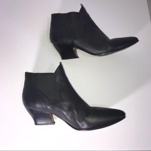 Acne Studios Black Alma Leather Booties